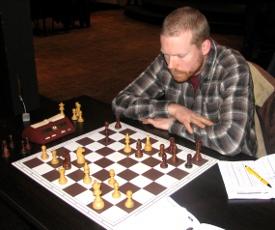 Arjan Gras kwam aan het 3e bord ook niet verder dan een bijna-overwinning.